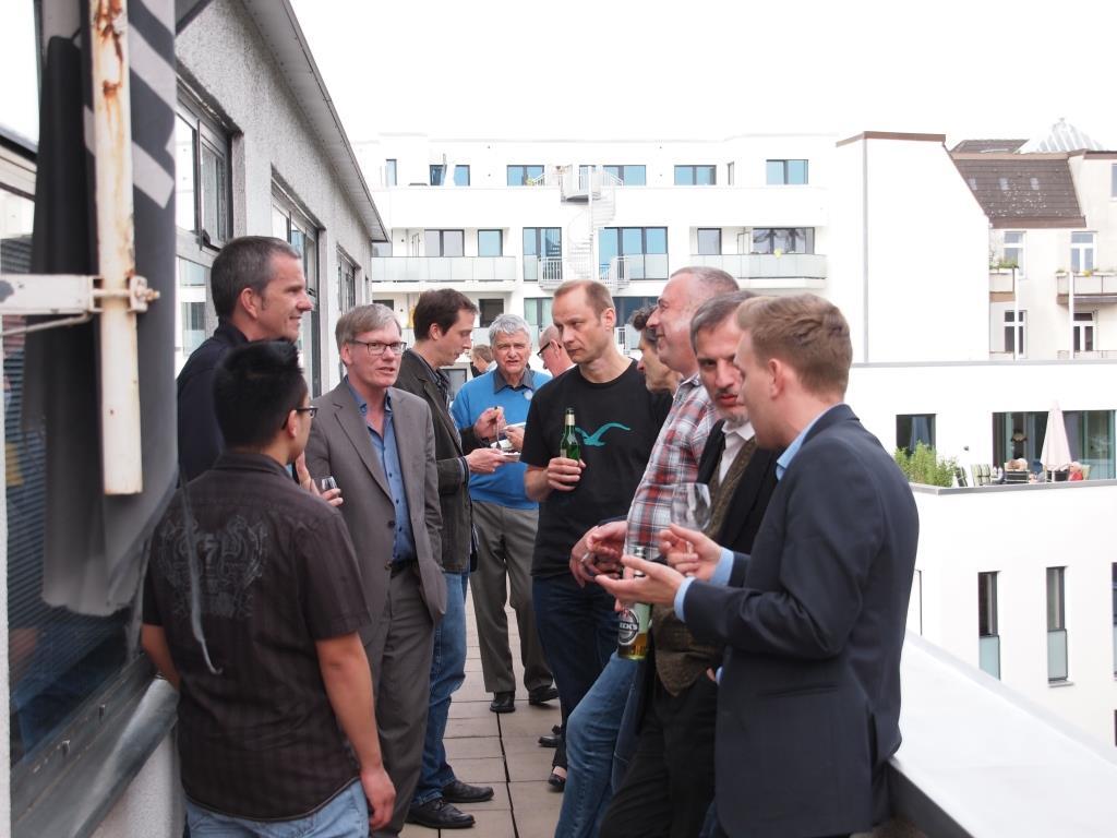Duy-Anh-Nguyen, Holger Becker (Phone Research Field) mit Andreas Kroll, Holger Klan (PAC), Gerd Ide (Euro Telegroup), Jörg Paustian und Gerret Steenfadt (beide Phone Research Field), Roland Hinck, Thomas Kluge (nhi²) und Thomas Weiß (infas)