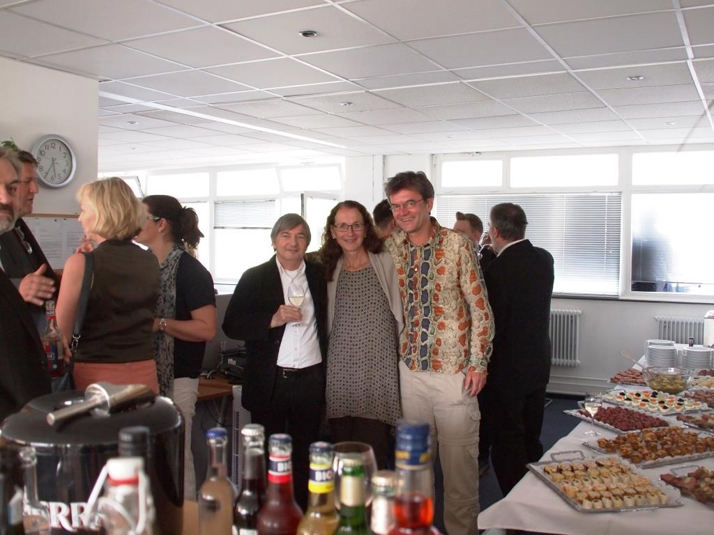 Herbert Neumeier (nhi²) und Birgit Jesske (infas) mit Uwe Stüve