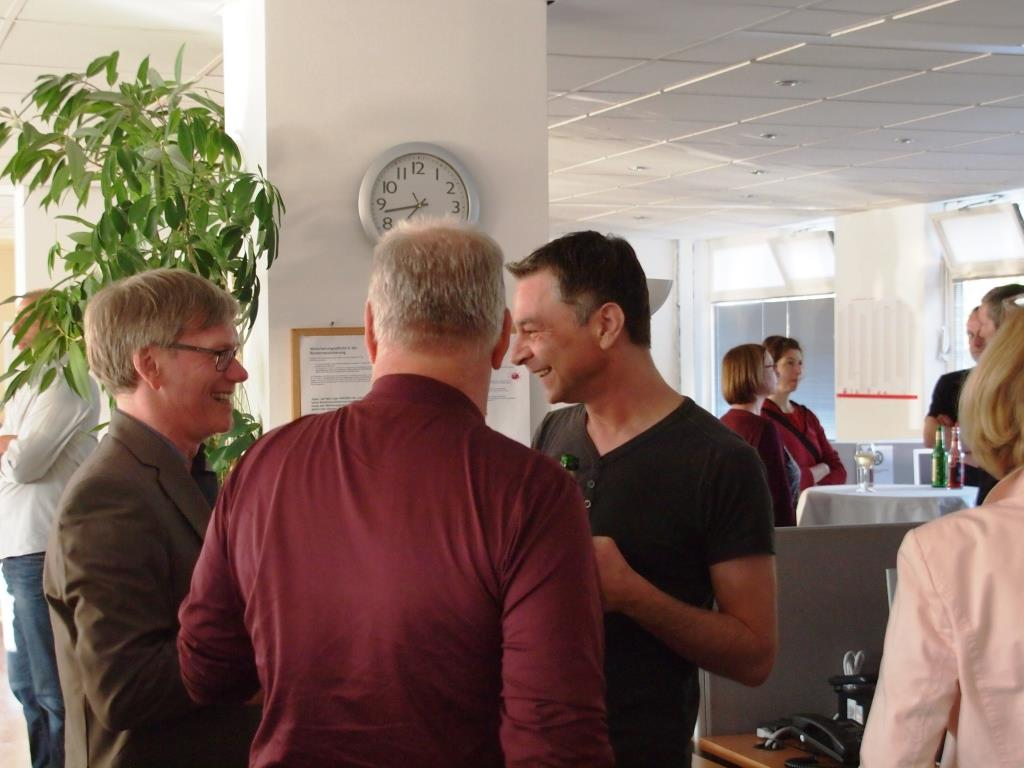 Andreas Kroll mit Peter Bär und Oliver Pintaske (beide F&P)