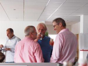 Stephan Struck mit Reinhard Schlinkert (dimap) und Michael Kunert (Infratest dimap)