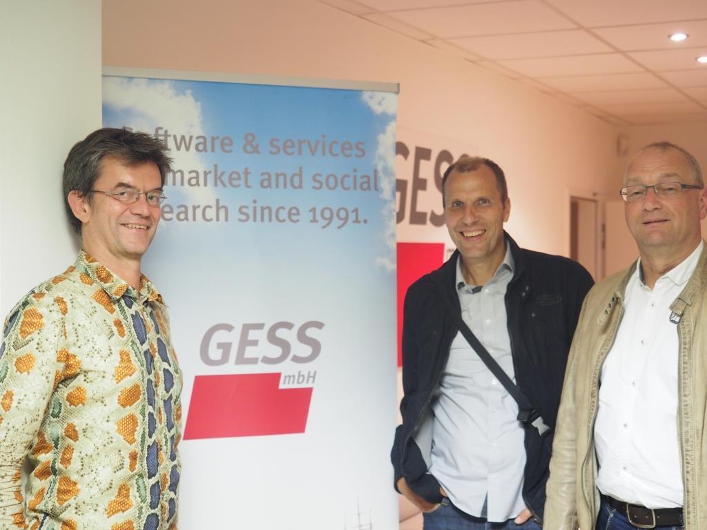Uwe Stüve mit Helmut Reinholz und Peter Bullmann (beide Produkt + Markt)