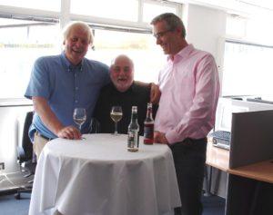 Reinhard Schlinkert (dimap), Knut Holzscheck und Michael Kunert (Infratest dimap)