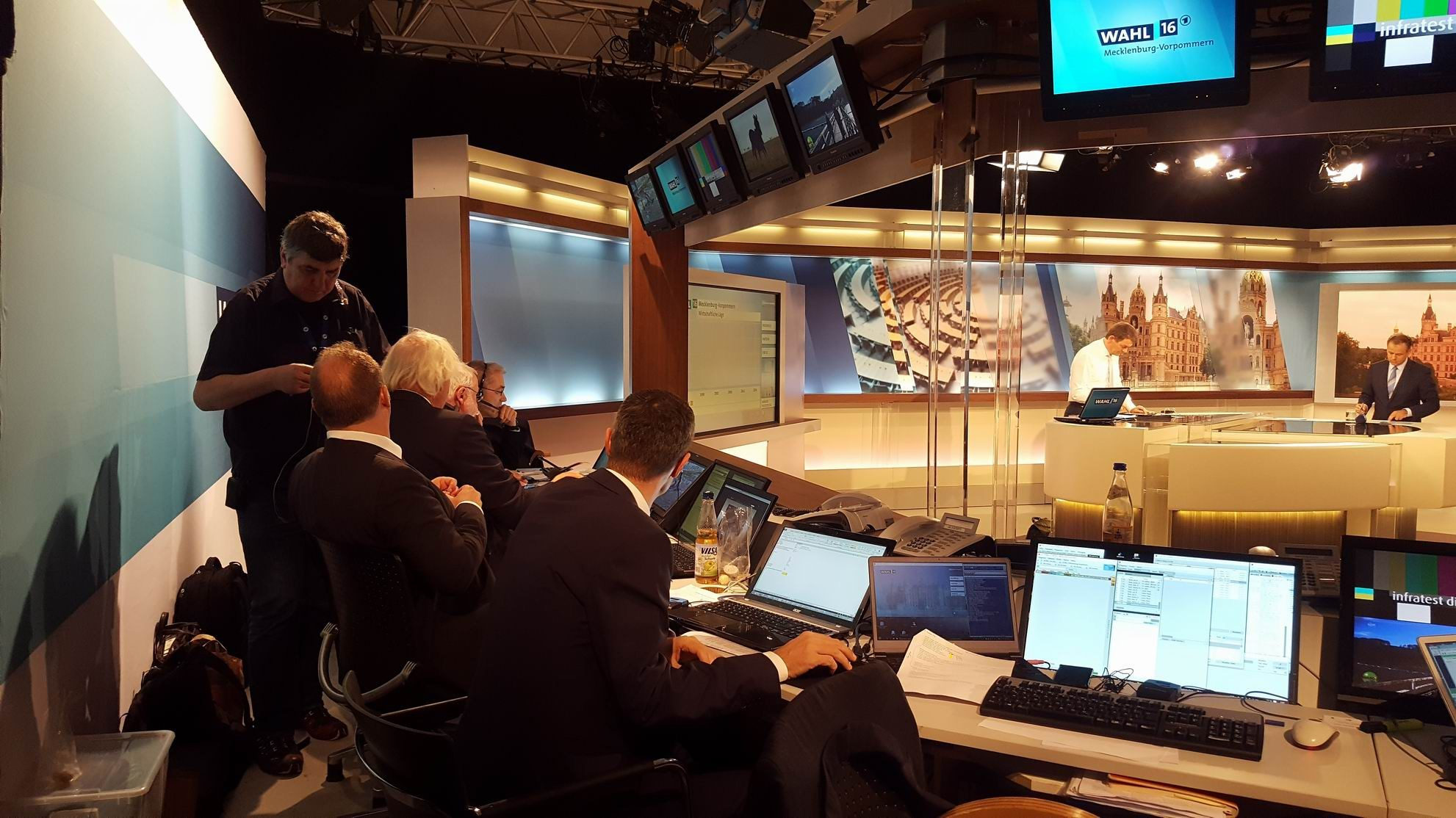 ARD-Wahlstudio zur Landtagswahl in Mecklenburg-Vorpommern 2016